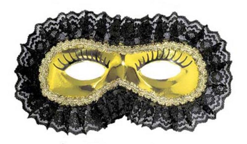 Gold Black Lace Venetian Eye Mask Eyemask Masquerade Ball Party Fancy Dress