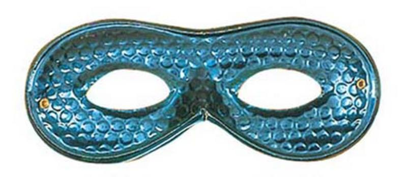 Blue Metallic Eyemask Eye Mask Masquerade Ball Party Fancy Dress