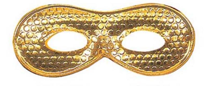 Gold Metallic Eyemask Eye Mask Masquerade Ball Party Fancy Dress