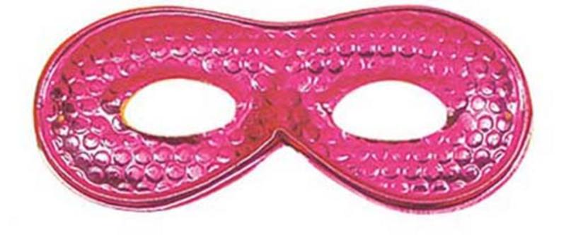 Ladies Pink Metallic Eyemask Eye Mask Masquerade Ball Party Fancy Dress