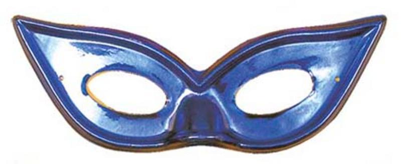 Blue Metallic Butterfly Eyemask Eye Mask Masquerade Ball Party Fancy Dress