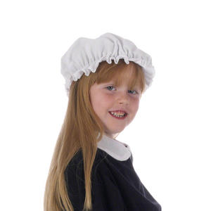 Childrens White Mob Hat Victorian Chamber Maid Fancy Dress One Size Fits All