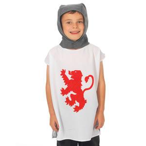 Childrens White Knight Tabard  Fancy Dress Costume 3-9 Years King Arthur