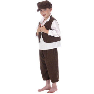 Childrens Street Urchin Fancy Dress Costume Oliver Twist Victorian Era 128Cm 6-8 Years