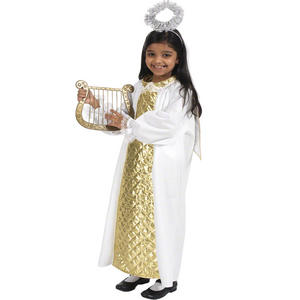 Childrens Angel Fancy Dress Costume Nativity Play Outfit 128Cm 6-8 Years