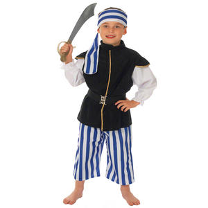 Childrens Pirates Of The Caribbean Fancy Dress Outfit Pirate Costume 128Cm