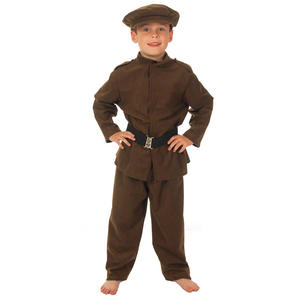 Childrens Ww1 Army Soldier Fancy Dress Costume Military Uniform 140Cm 8-10 Years