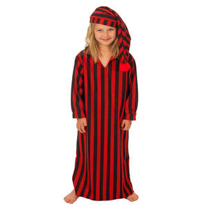 Childrens Scrooge Nightgown & Cap Fancy Dress Costume Outfit 128Cm 6-8 Years