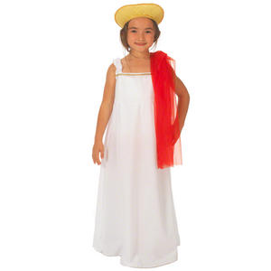 Childrens Greek Goddess Fancy Dress Costume Grecian Angel Outfit 140Cm 8-10 Year