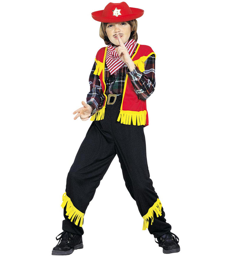 Childrens Cowboy Fancy Dress Costume Set Woody Outfit 128Cm 5-7 Yrs