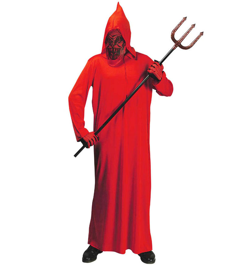 Childrens Red Devil Halloween Fancy Dress Costume & Mask Outfit 140Cm 8-10 Yrs
