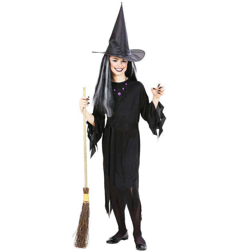 Childrens Witch Halloween Fancy Dress Costume Outfit Set 140Cm 8-10 Yrs