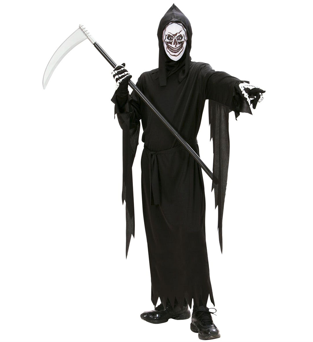 Childrens Grim Reaper Halloween Fancy Dress Costume Outfit 128Cm 5-7 Yrs