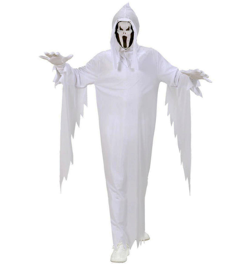 Childrens White Ghost Robe Halloween Fancy Dress Costume Outfit 140Cm 8-10 Yrs