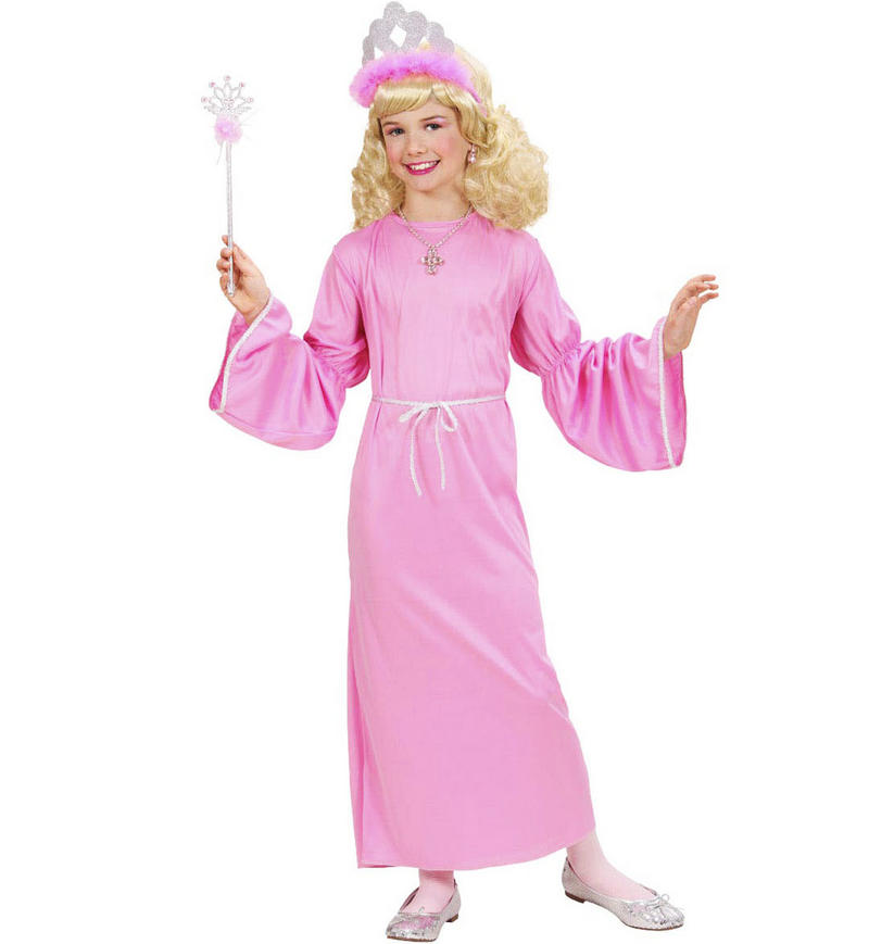 Childrens Pink Princess Fancy Dress Costume Fairy Tale Outfit 140Cm 8-10 Yrs