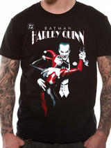 Batman Joker & Harley Quinn Mens T-Shirt Licensed Top Black M