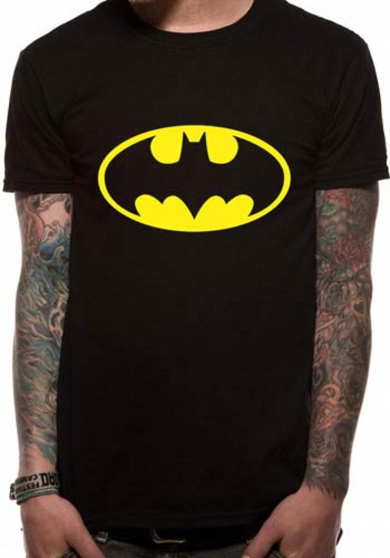 Batman Logo Symbol Mens T-Shirt Licensed Top Black L