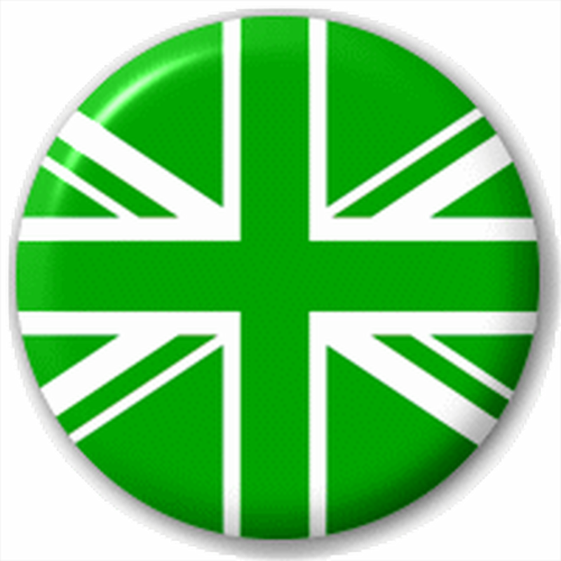 Green White Union Jack Team Flag 25Mm Pin Button Badge Lapel Pin