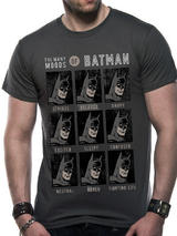 Dc Comic Originals Moods Of Batman Mens T-Shirt Licensed Top  Grey 2XL