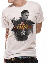 Dr Strange (Movie) Character Mens T-Shirt Licensed Top White S