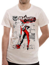 Suicide Squad Harley Quinn Kaboom Mens T-Shirt Licensed Top White S