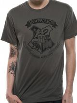 Harry Potter Distressed Hogwarts Mens T-Shirt Licensed Top Grey L
