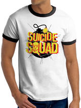 Suicide Squad Exploding Bomb T-Shirt Licensed Top White S