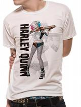 Suicide Squad Harley Quinn Poster T-Shirt Licensed Top White L