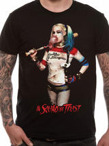Suicide Squad Harley Quinn Squad T-Shirt Licensed Top Black S
