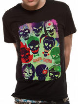 Suicide Squad Poster T-Shirt Licensed Top Black S