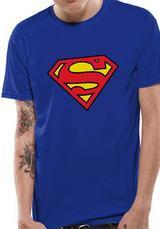 Superman Logo Symbol T-Shirt Licensed Top Blue L
