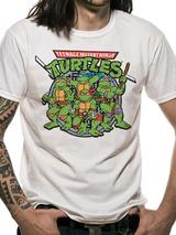 Teenage Mutant Ninja Turtles Group T-Shirt Licensed Top White XL