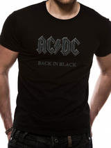 Ac/Dc Back In Black Mens T-Shirt Licensed Top Black  S