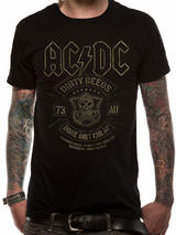 Ac/Dc Done Cheap Mens T-Shirt Licensed Top Black L