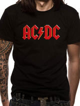 Ac/Dc Red Logo Symbol Mens T-Shirt Licensed Top Black M