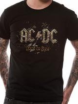 Ac/Dc Rock Or Bust Mens T-Shirt Licensed Top Black 2XL