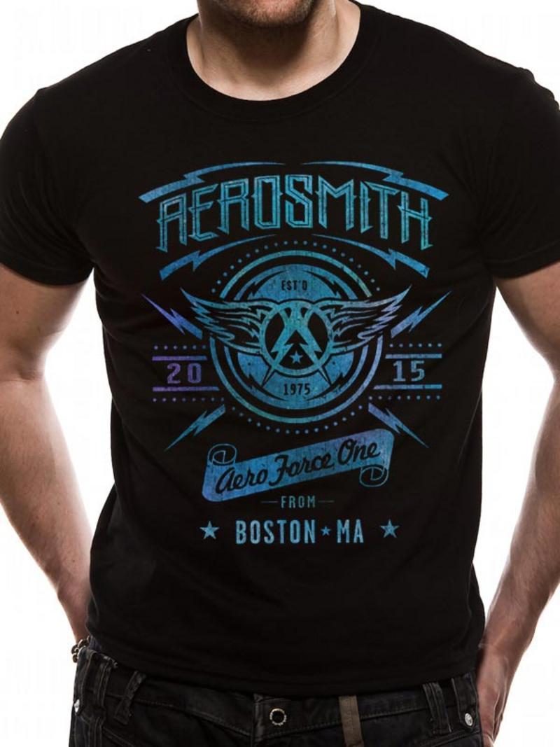 Aerosmith Aeroforce One Mens T-Shirt Licensed Top Black M