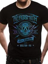 Aerosmith Aeroforce One Mens T-Shirt Licensed Top Black M