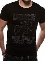 Led Zeppelin Us 77 Mens T-Shirt Licensed Top Black 2XL