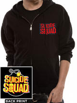 Suicide Squad Bomb Zip Up Jacket Hoodie Black S