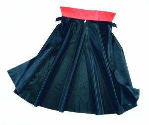 Childrens Black Nylon Cape Dracula Vampire Halloween Fancy Dress Kids