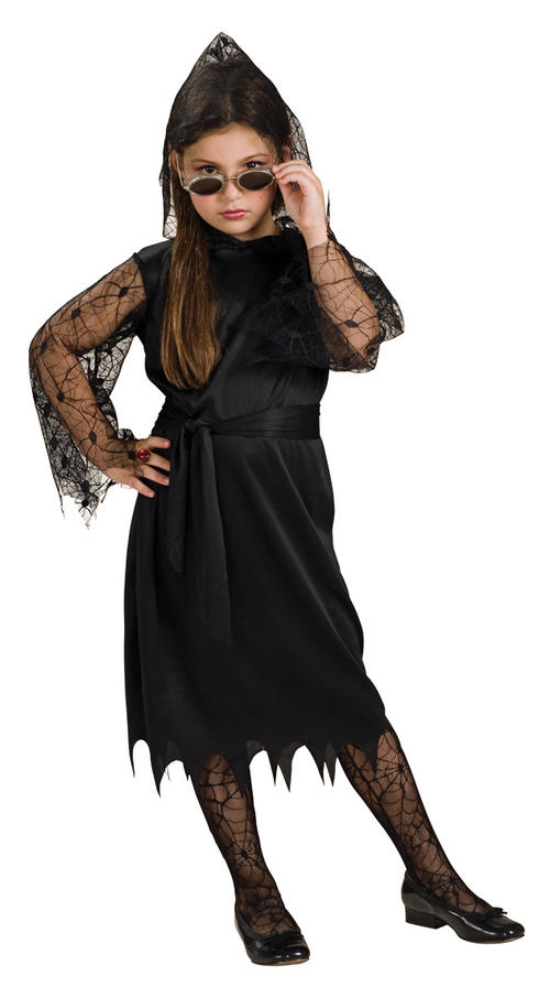 Childrens Vampiress Fancy Dress Costume Witch Vampire Halloween Outfit 5-7 Yrs