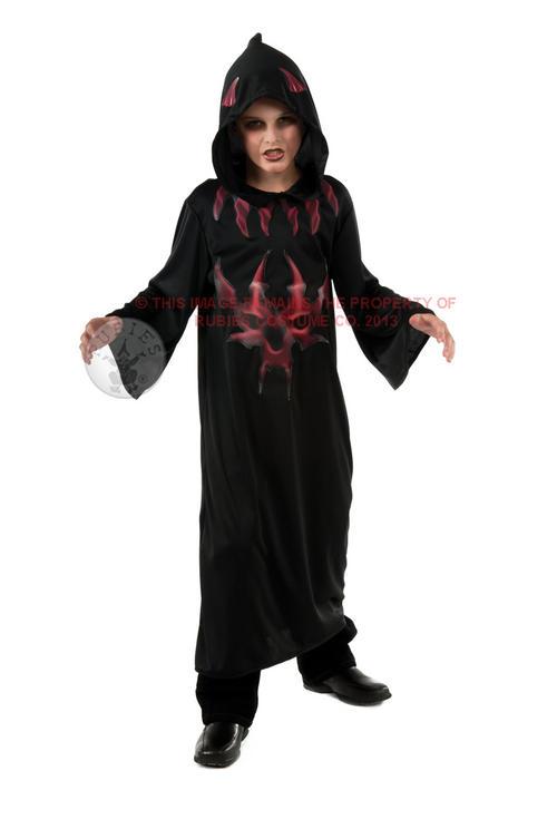 Childrens Devil Fancy Dress Costume Demon Satan Halloween Outfit 8-10 Yrs