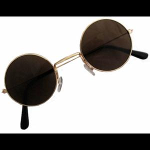Black John Lennon Style Sunglasses Ozzy Osbourne Hippy 70's 80's Fancy Dress
