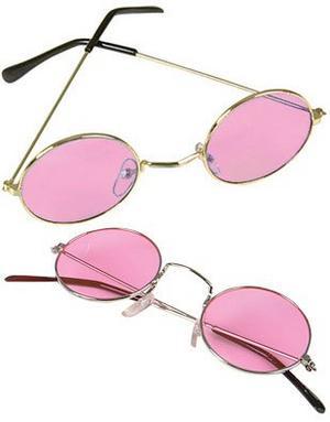 9b2ba06dca Sentinel Pink John Lennon Style Sunglasses Ozzy Hippy 70 s 80 s Fancy Dress  Glasses