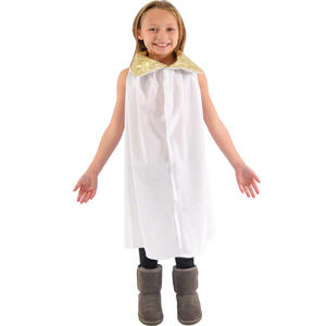 Childrens Angel Fancy Dress Costume Christmas School Nativity Outfit Size 3-9 Yr