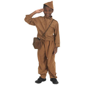 Childrens Home Guard Fancy Dress Costume Soldier Outfit 152Cm Size 10-12 Years