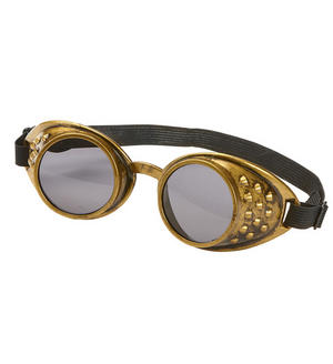 Bronze Steampunk Goggles Victorian Era Fancy Dress Costume Accessory