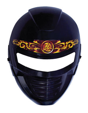 Adult Black Ninja Face Mask Halloween Martial Arts Fancy Dress