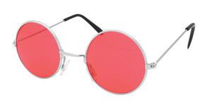Red John Lennon Style Sunglasses Hippy 70's 80's Fancy Dress Glasses